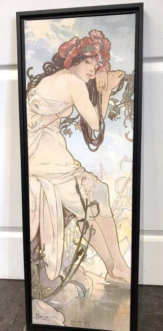 Oil on Canvas Print, Art of Girl by Alphonse Mucha