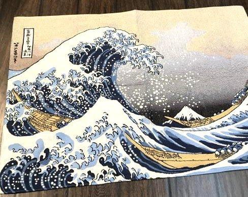 Tapestry Depicting Scene of Japanese Tsumani