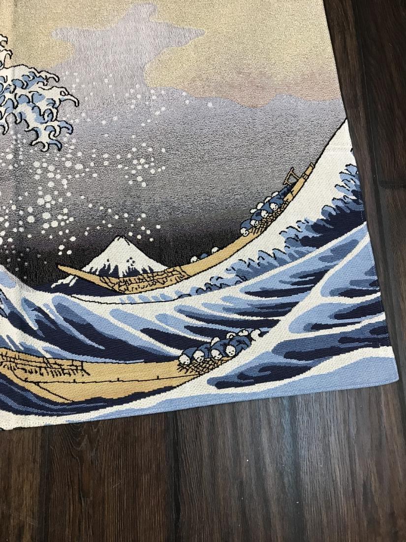 Tapestry Depicting Scene of Japanese Tsumani - 2