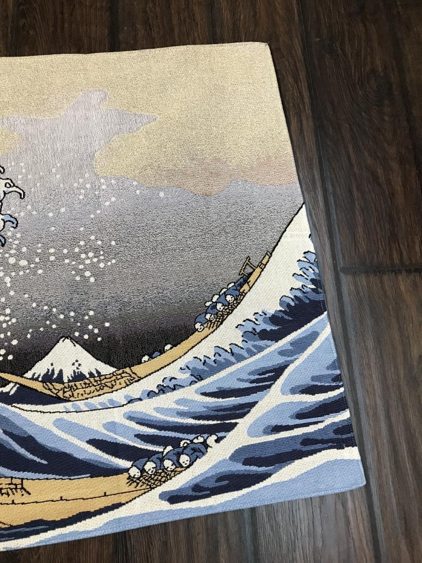 Tapestry Depicting Scene of Japanese Tsumani - 3