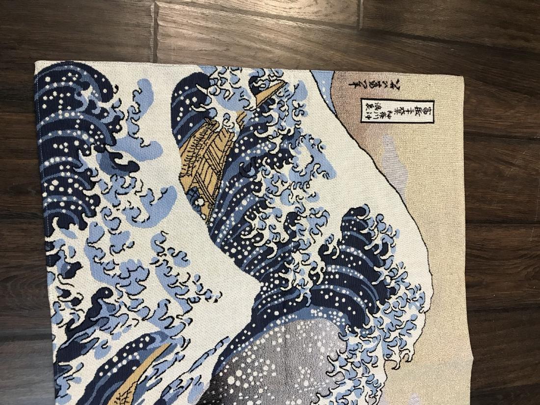 Tapestry Depicting Scene of Japanese Tsumani - 4