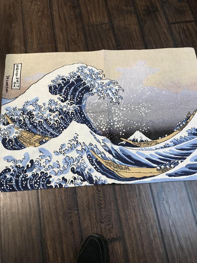 Tapestry Depicting Scene of Japanese Tsumani - 6