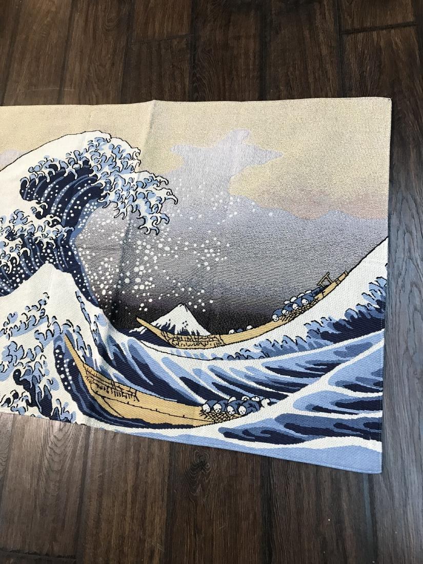 Tapestry Depicting Scene of Japanese Tsumani - 8