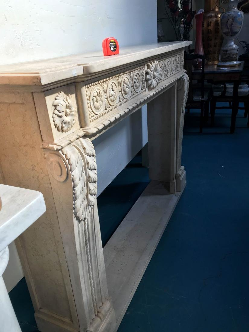 Exceptionally Carved Marble Fireplace - 10
