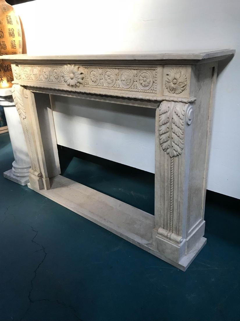 Exceptionally Carved Marble Fireplace - 2