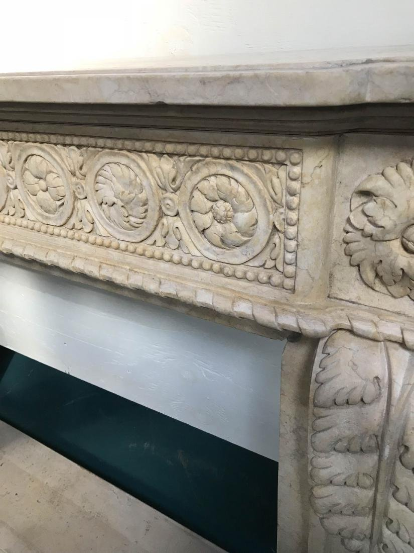 Exceptionally Carved Marble Fireplace - 3