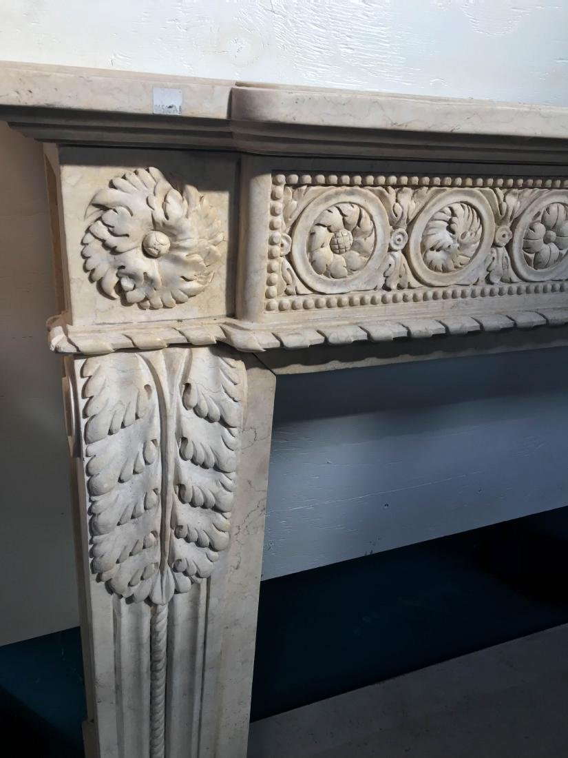 Exceptionally Carved Marble Fireplace - 5