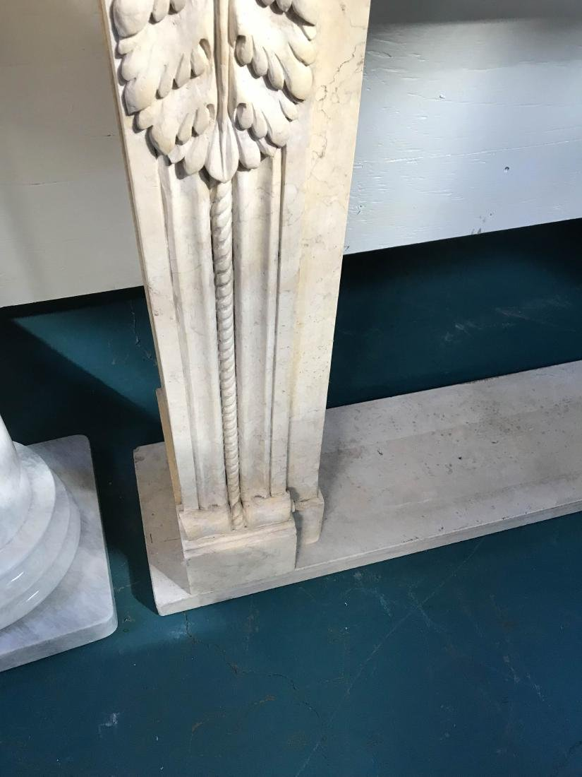 Exceptionally Carved Marble Fireplace - 6
