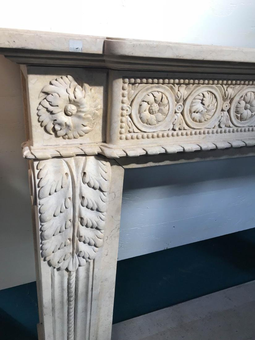 Exceptionally Carved Marble Fireplace - 7