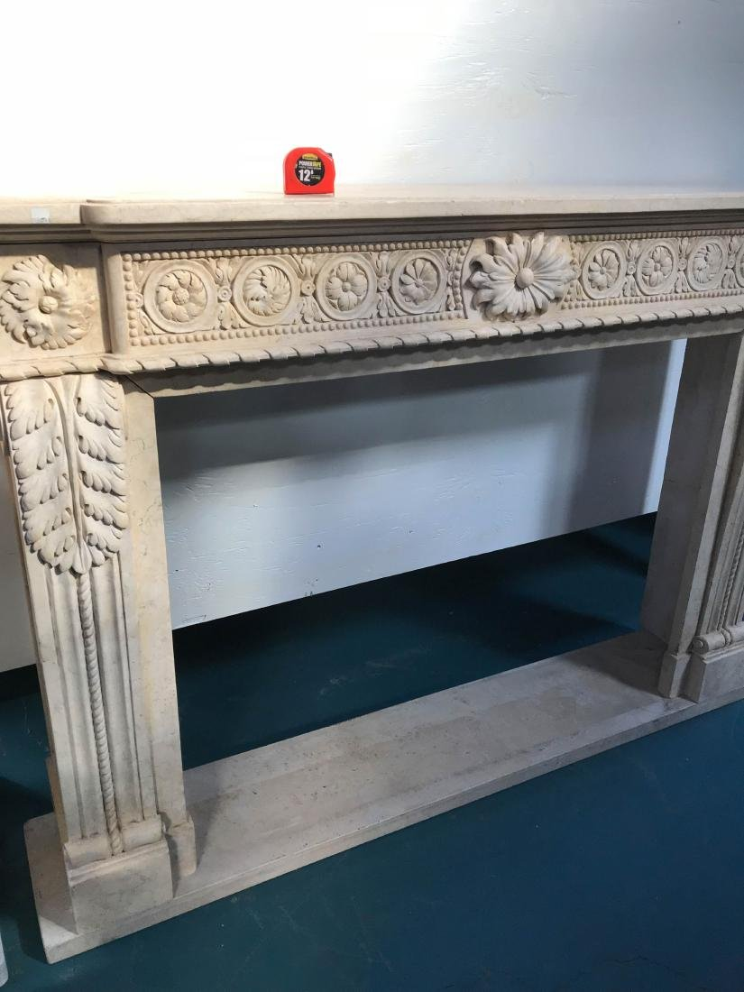 Exceptionally Carved Marble Fireplace - 8