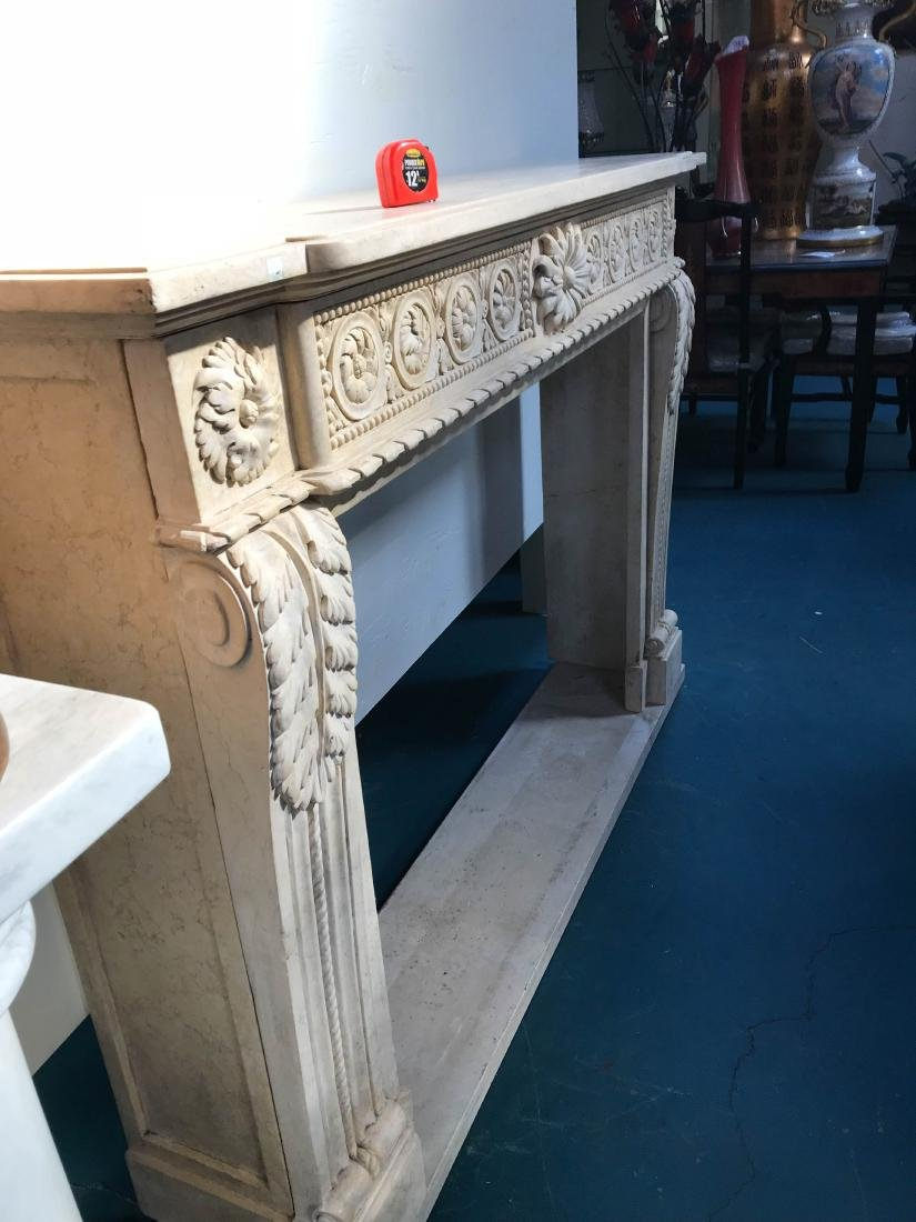 Exceptionally Carved Marble Fireplace - 9