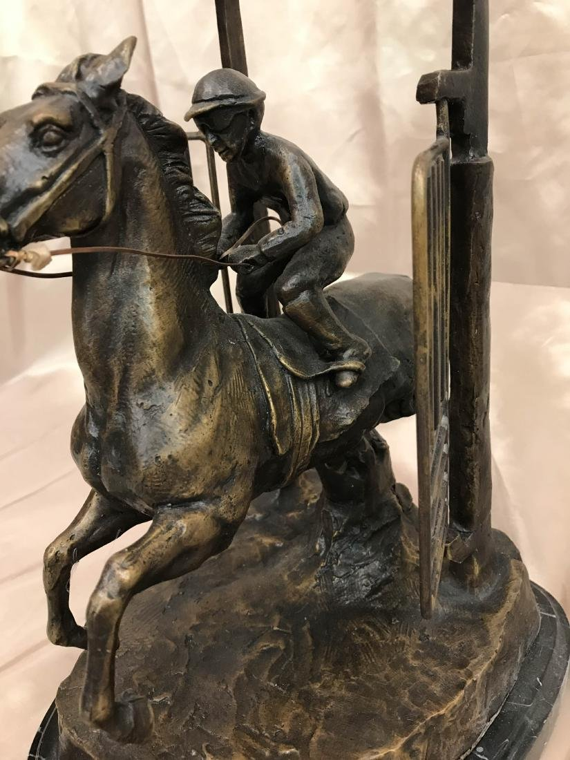 "Bronze Statue of ""Delaware Park"" Racehorse - 5"