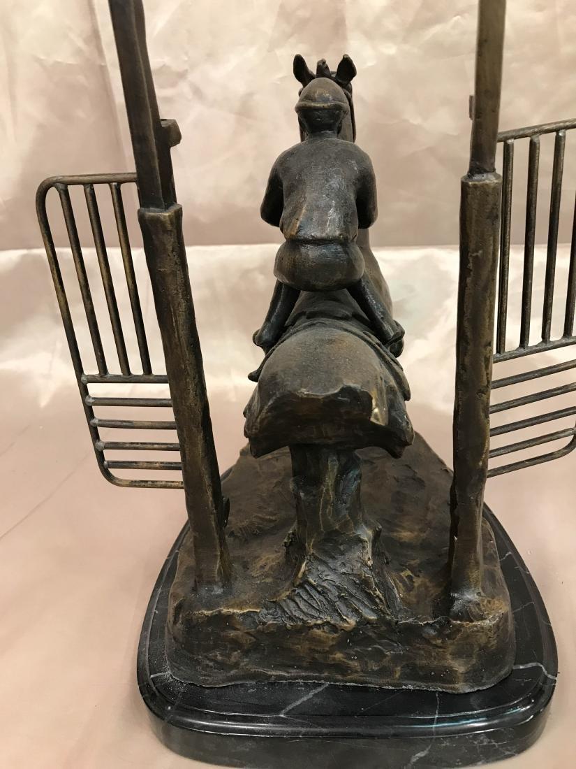 "Bronze Statue of ""Delaware Park"" Racehorse - 7"