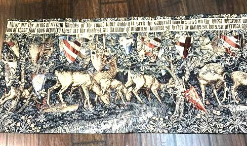 Medieval Style Tapestry with Deer in the Woods