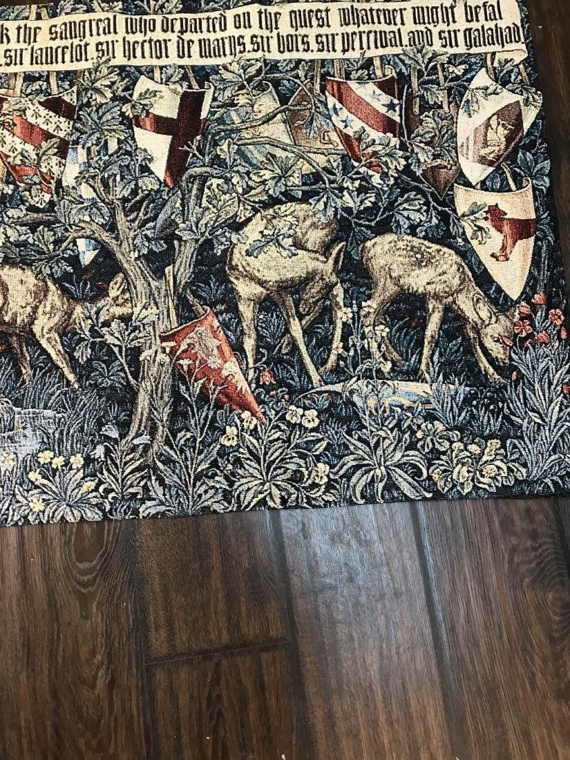 Medieval Style Tapestry with Deer in the Woods - 2