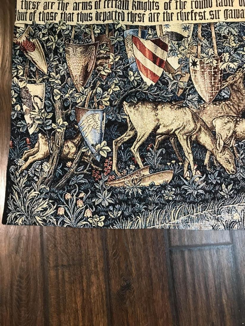 Medieval Style Tapestry with Deer in the Woods - 3