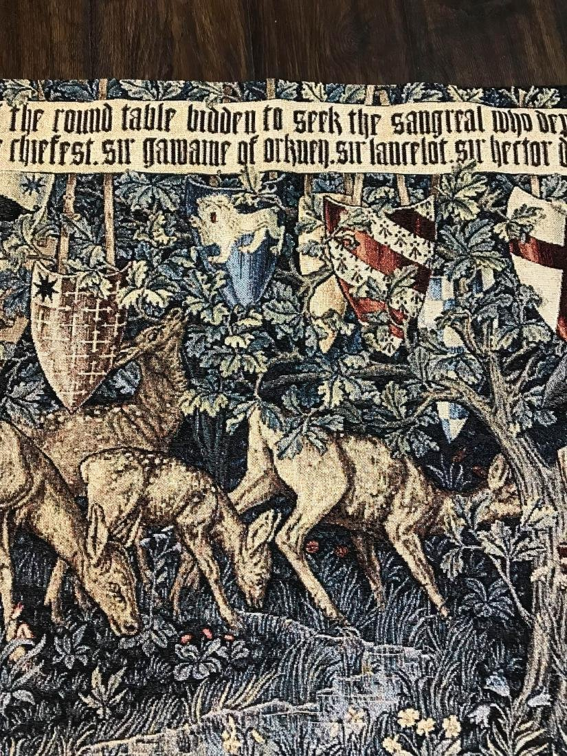 Medieval Style Tapestry with Deer in the Woods - 5
