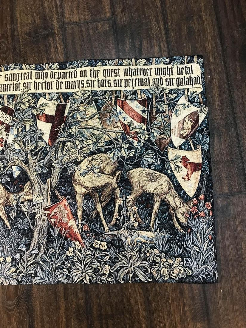 Medieval Style Tapestry with Deer in the Woods - 7
