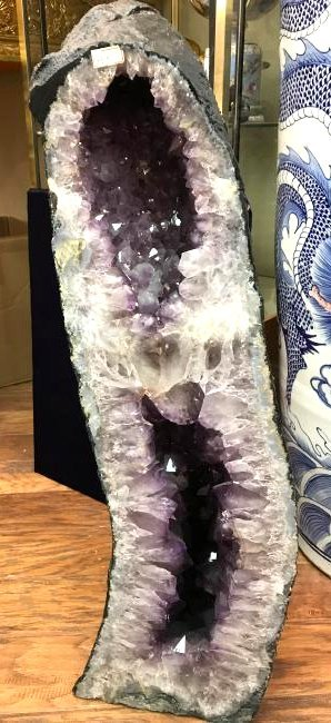"Beautiful Amethyst Crystal Cathedral Geode 32""H"