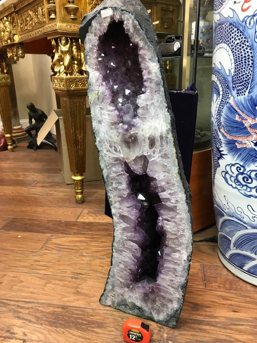 "Beautiful Amethyst Crystal Cathedral Geode 32""H - 7"