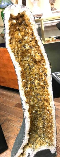 Beautiful Tall Citrine Crystal Cathedral Geode