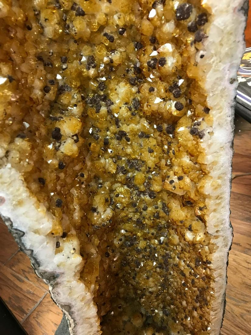 Beautiful Tall Citrine Crystal Cathedral Geode - 6