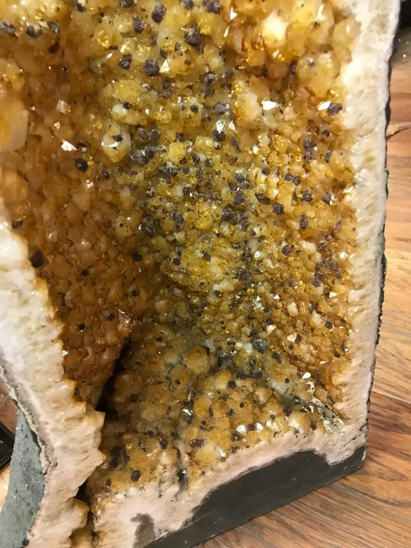 Beautiful Tall Citrine Crystal Cathedral Geode - 7