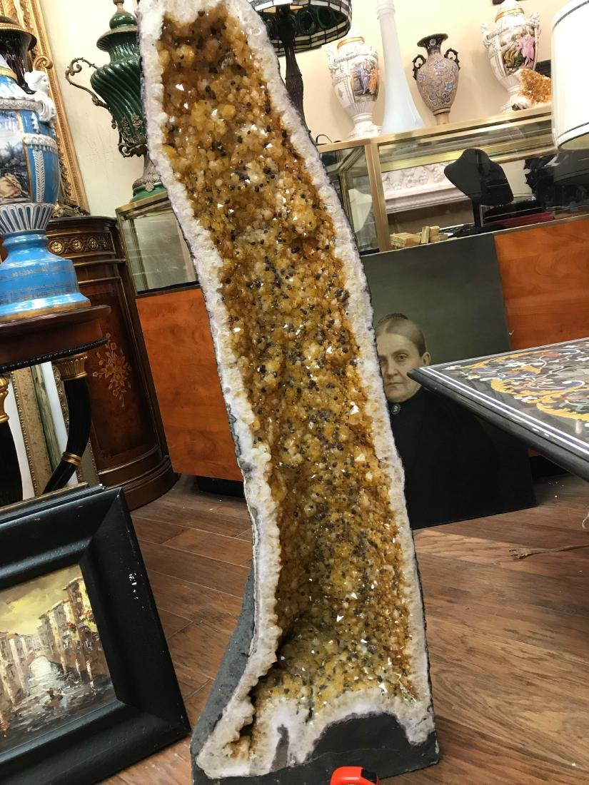 Beautiful Tall Citrine Crystal Cathedral Geode - 8