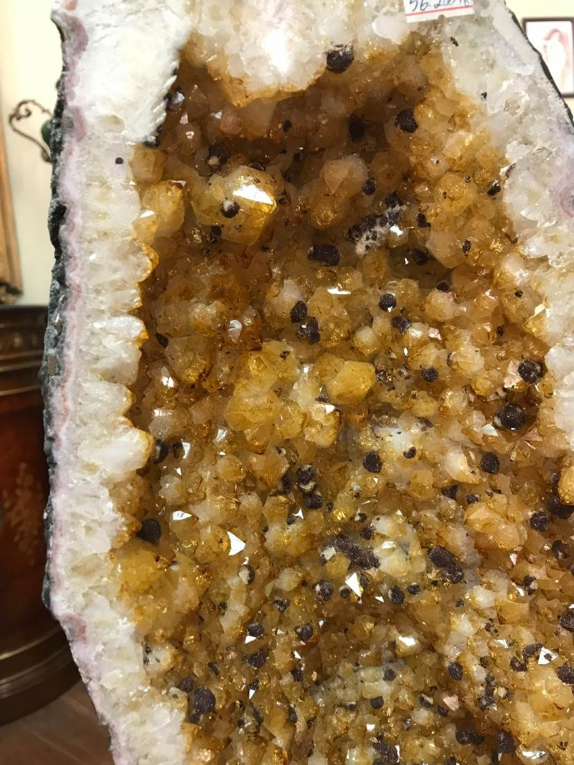 Beautiful Tall Citrine Crystal Cathedral Geode - 9