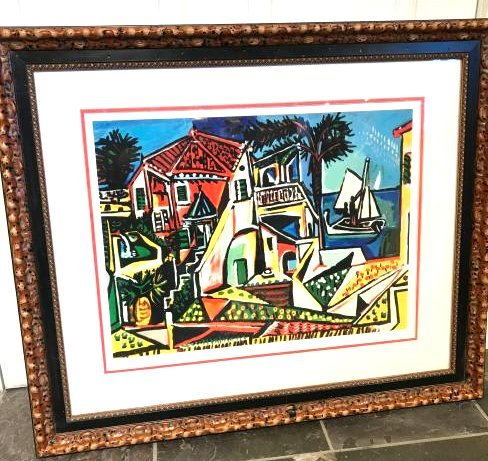 """""""Mediterranean View"""" Lmd. Ed. Print by Picasso, Framed"""