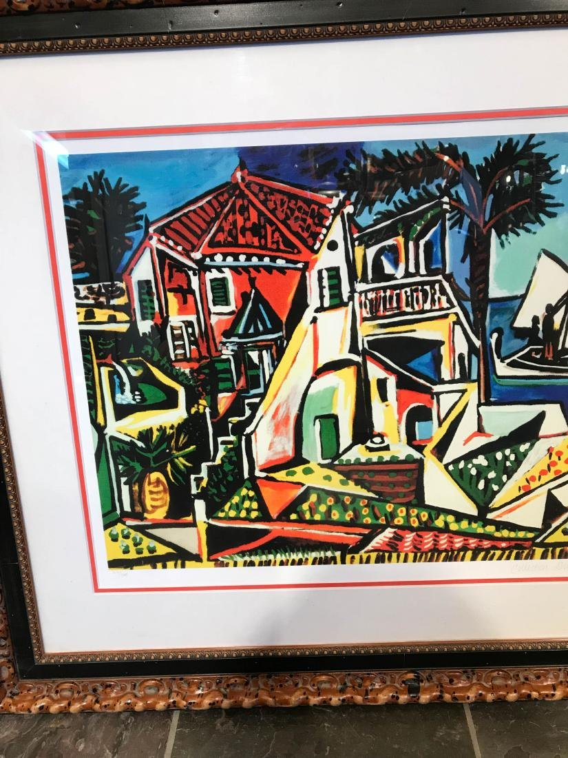 """""""Mediterranean View"""" Lmd. Ed. Print by Picasso, Framed - 2"""
