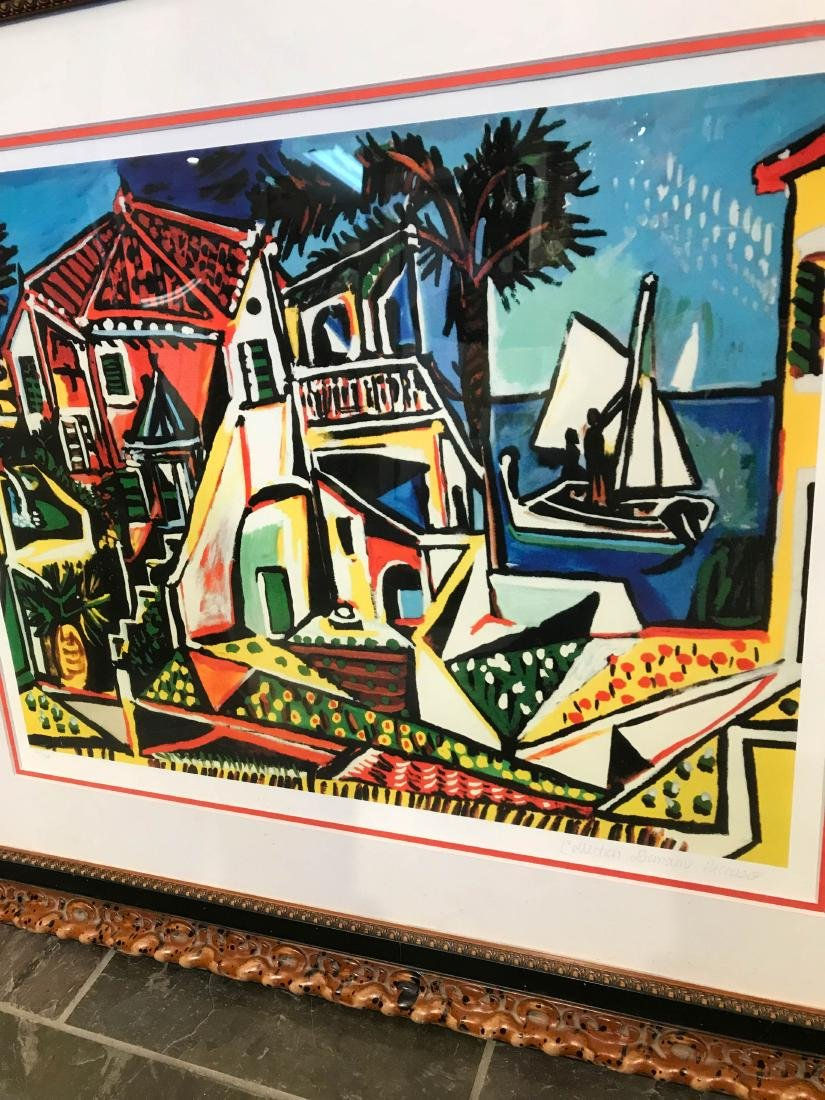 """""""Mediterranean View"""" Lmd. Ed. Print by Picasso, Framed - 5"""