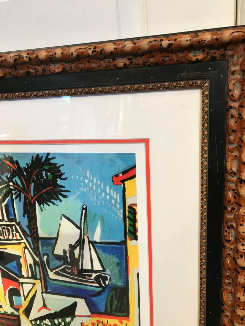 """""""Mediterranean View"""" Lmd. Ed. Print by Picasso, Framed - 6"""