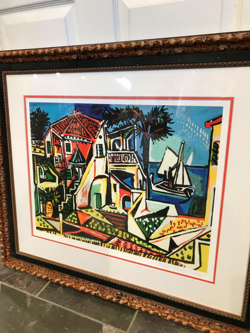"""""""Mediterranean View"""" Lmd. Ed. Print by Picasso, Framed - 7"""