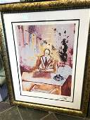 Businessman Lmd Ed Print by Salvador Dali Framed