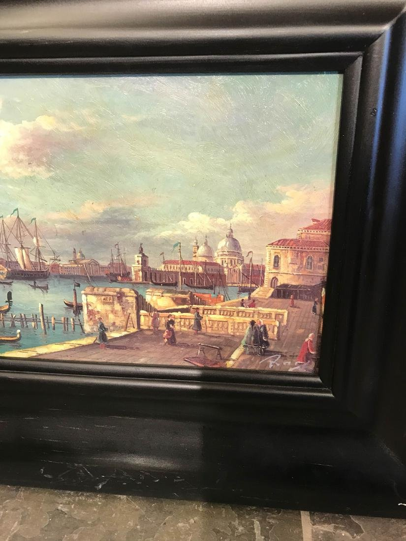 Small Oil Painting of Italian Sea Port Scene - 2