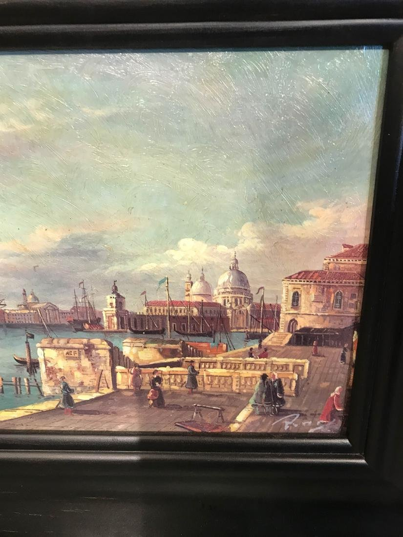 Small Oil Painting of Italian Sea Port Scene - 7