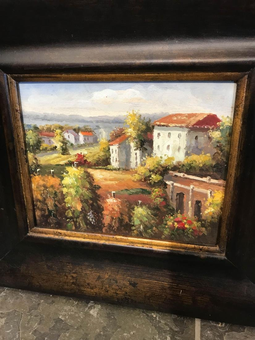 Small Oil Painting of Italian Countryside, Framed - 2