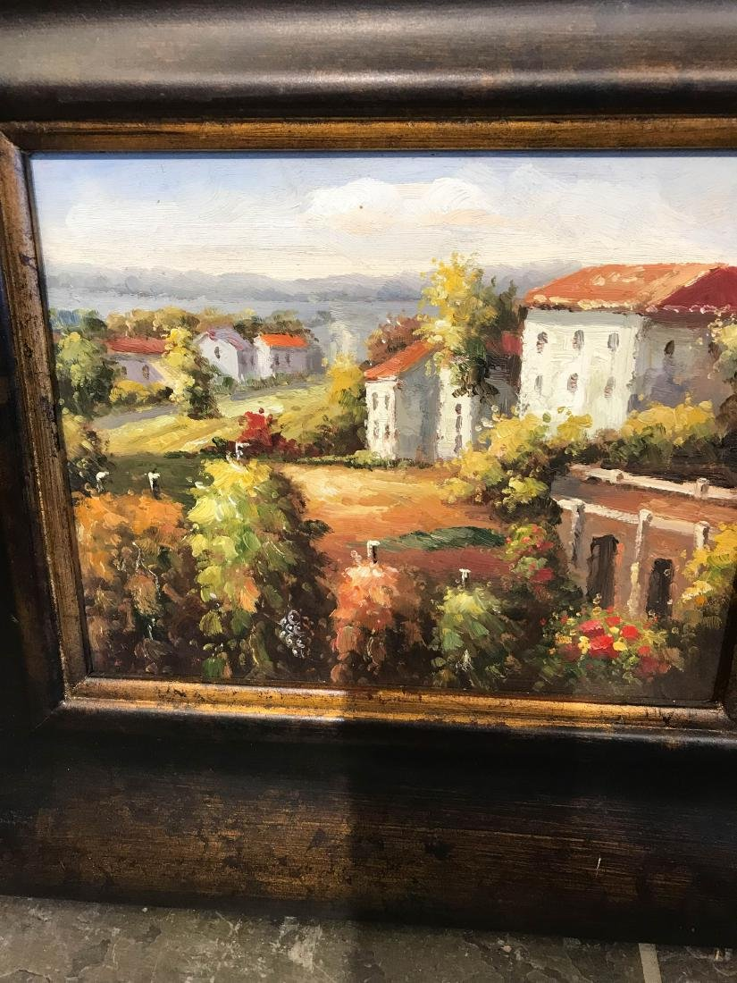 Small Oil Painting of Italian Countryside, Framed - 3