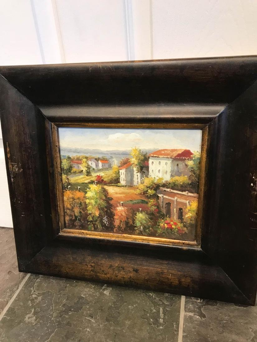 Small Oil Painting of Italian Countryside, Framed - 5