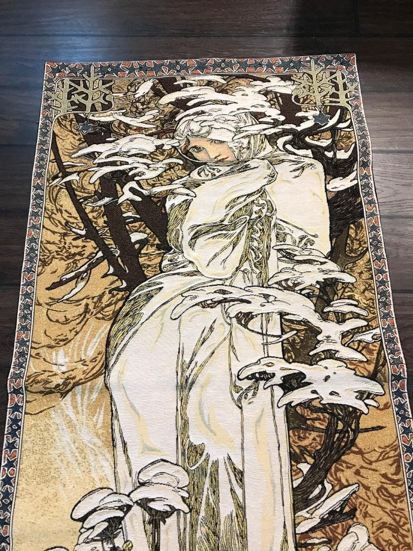 Tapestry of A. Mucha's Art, Woman in the Wind - 2