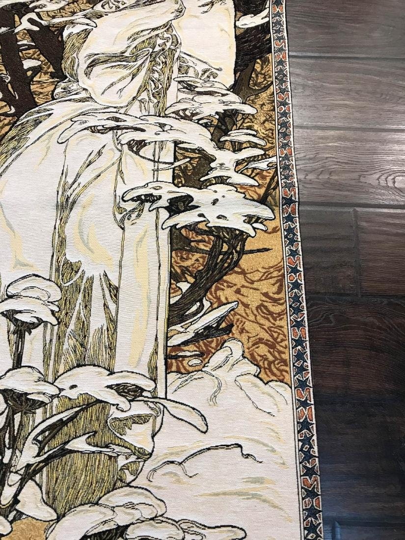 Tapestry of A. Mucha's Art, Woman in the Wind - 5
