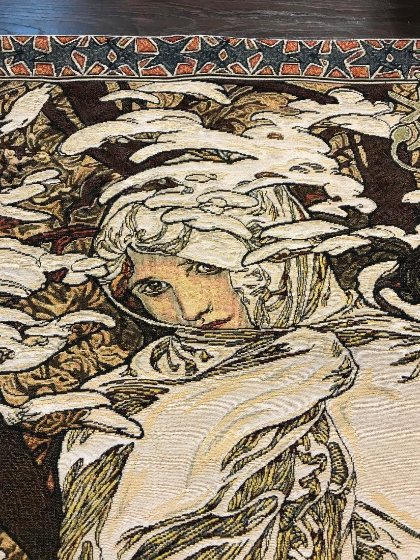 Tapestry of A. Mucha's Art, Woman in the Wind - 6