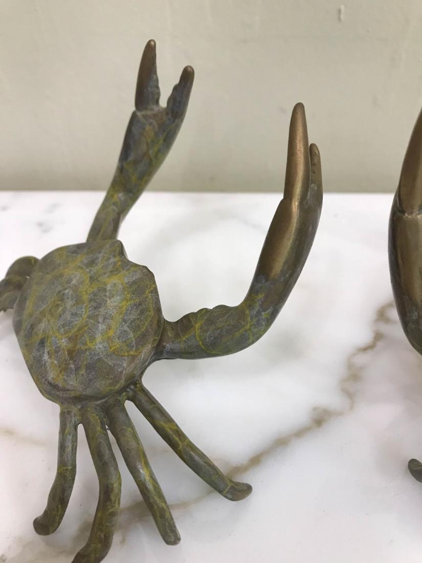 Pair of Multi-Patinated Bronze Crabs - 3