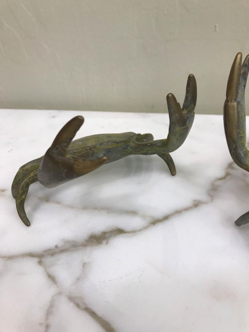 Pair of Multi-Patinated Bronze Crabs - 4
