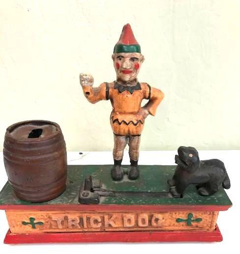"""Trick Dog"" Cast Iron Mechanical Bank"