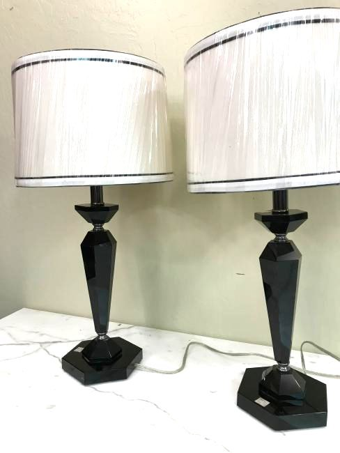 Pair of Modern Italian Glass Table Lamps
