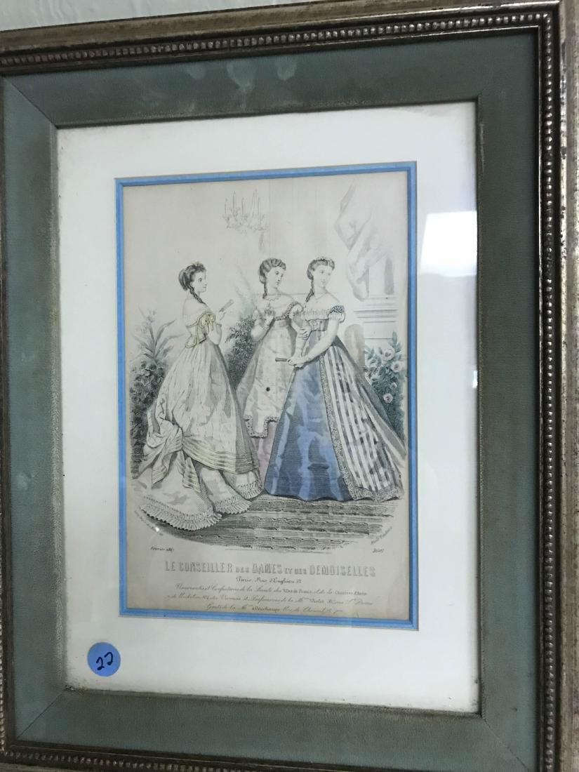 """Antique Print """"Le Conseiller des Dames et des"""