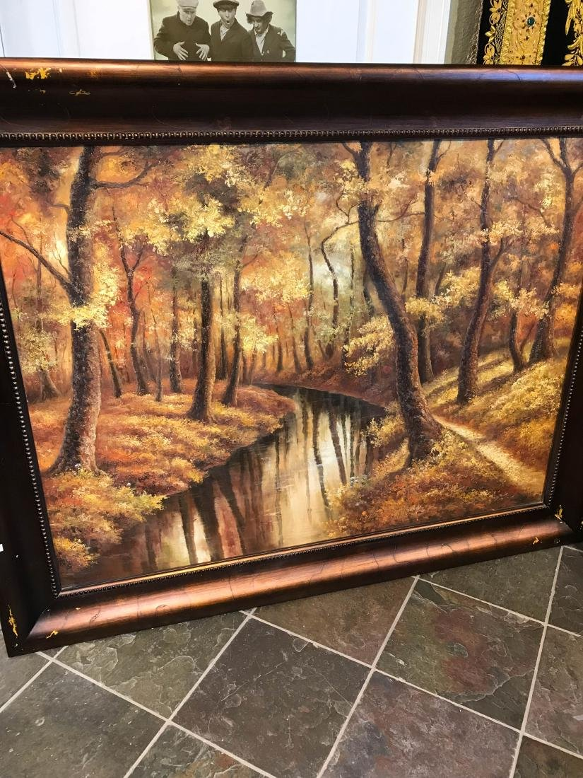 Oil on Canvas Painting of an Autumn Scene