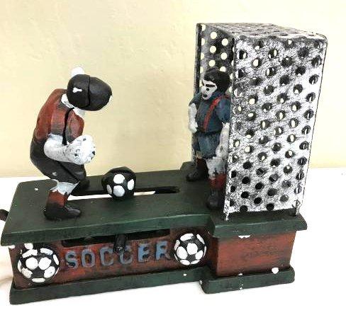 Mechanical Soccer Cast Iron Bank